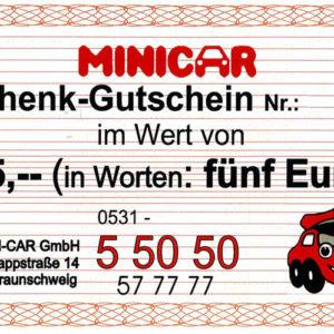 minicar-gutschein